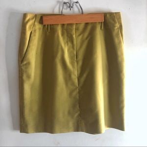 Ann Taylor mustard mini skirt